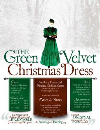 The Green Velvet Christmas Dress