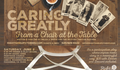 CARING GREATLY… FROM A CHAIR AT THE TABLE